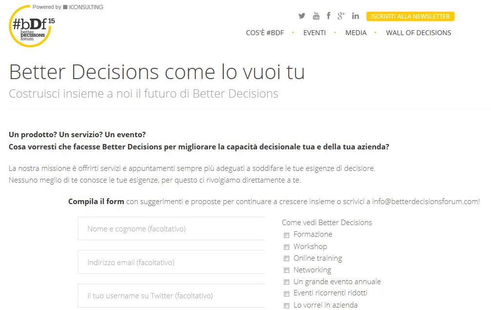 Better decisions come lo vuoi tu better decisions for Costruisci le tue planimetrie domestiche