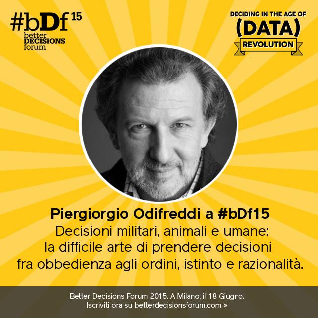 Decisioni militari, animali e umane: Piergiorgio Odifreddi a #bDf15